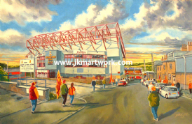 Valley parade going to the match print